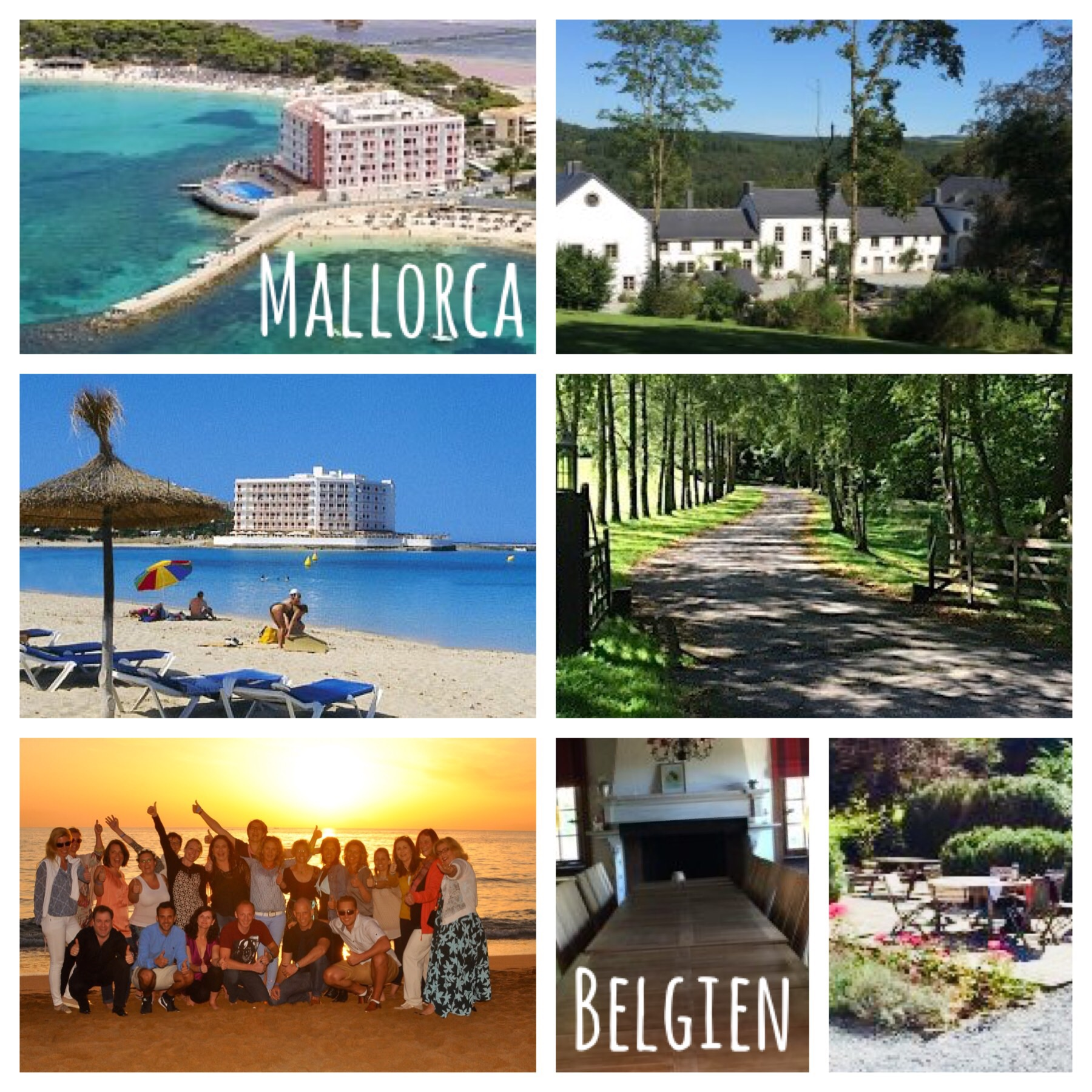 Bilder Mallorca und Belgien